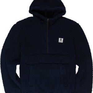 Sweet polaire bout de mouton épaisse zip trois quarts poche kangourou Faroe zip element bleu