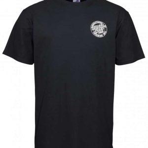 SCA-TEE-4948 t-shirt manches courtes noir logo Roux de Skate avec des ailes style vintage ROAD Rider