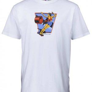 SCA-TEE-4973 t-shirt manches courtes blanc imprimé avant skateuse vintage Santa Cruz Dolly