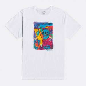 u1ss72 billabong t-shirt Billabong homme imprimé sur l'avant avec un tableau d'artiste