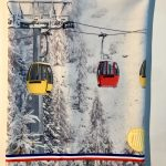 gondolas cabine remonter mecanique  tour de cou milf made in france neckwarmer polaire cache coup