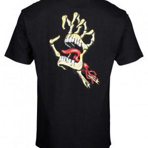 SCA-TEEVintage Bone Hand T-Shirt Santa Cruz noir main squelette