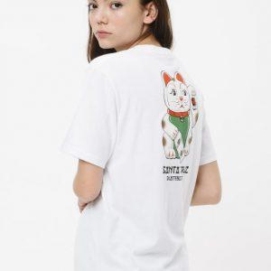 SCA-WTE Lucky Cat T-Shirt Santa Cruz femme blanc