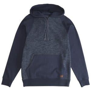 q1fl08 billabong sweat shirt capuche bleu navy
