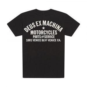 DEUS tee shirt noir venice motorcycle