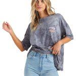 BROUGH WAVES billabong tee-shirt femme tie and dye ink
